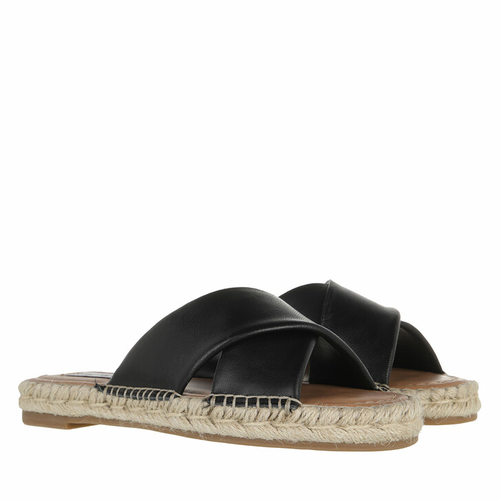 shoes, Steve Madden, Zapper Sandal Black Leather