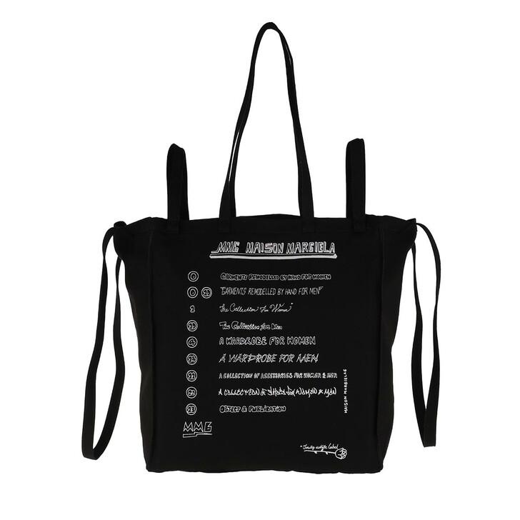Handtasche, MM6 Maison Margiela, Shopping Bag Black