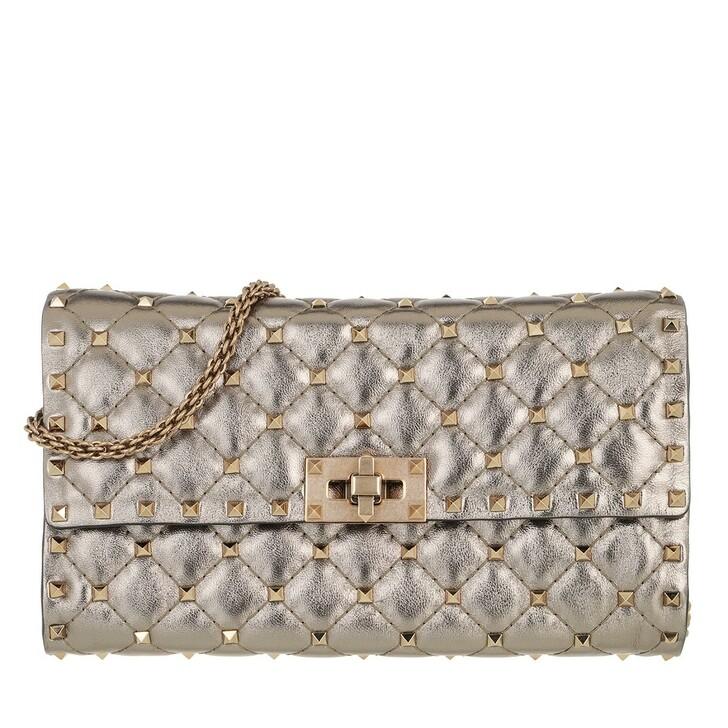 Handtasche, Valentino, Mini Rockstud Spike Crossbody Calfskin Sasso