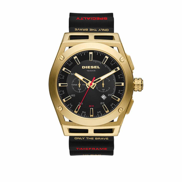 Uhr, Diesel, Timeframe Chronograph Silicone Watch Black