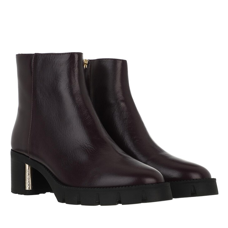 shoes, Coach, Chrissy Leather Bootie