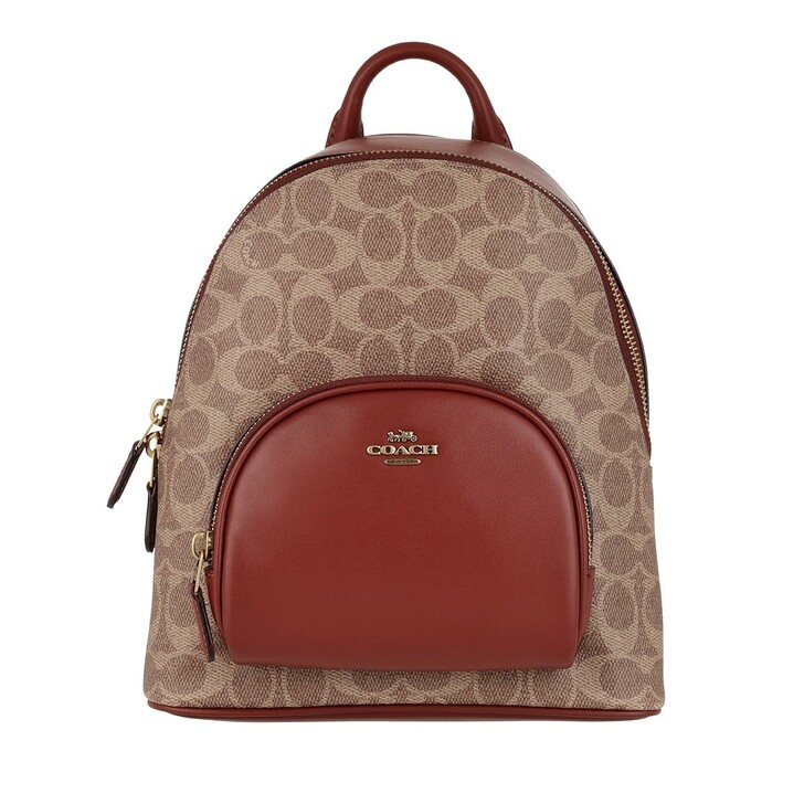 Reisetasche, Coach, Canvas Carrie Backpack Tan Rust