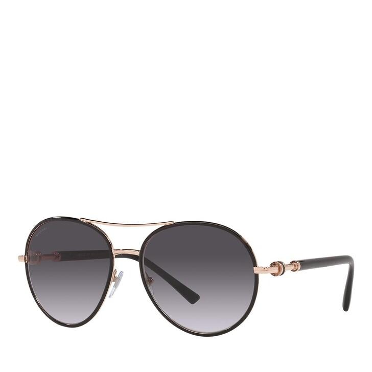 sunglasses, BVLGARI, 0BV6156 PINK GOLD/BLACK