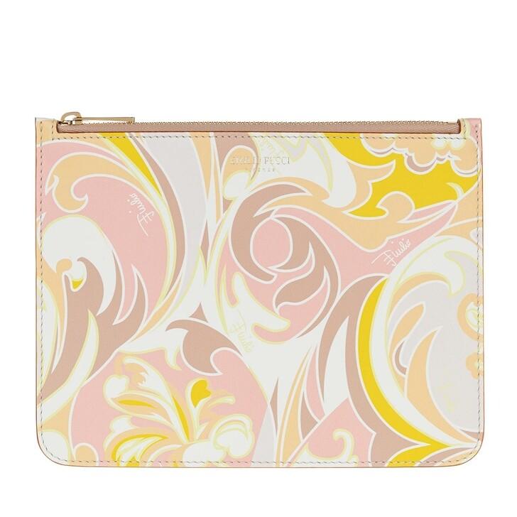 Handtasche, Emilio Pucci, Envelope Tropicana Baby Rosa/Pesca
