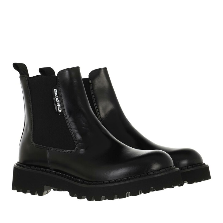 shoes, Karl Lagerfeld, TROUPE Gore Boot Leather Black Leather