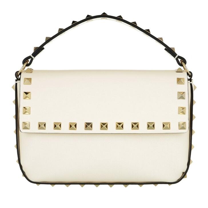 bags, Valentino Garavani, Rockstud Pouch Bag Leather Light Ivory