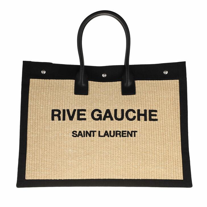 Handtasche, Saint Laurent, Rive Gauche Tote Bag Black