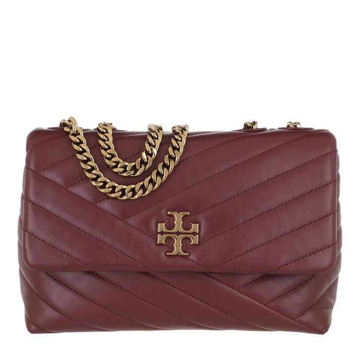 bags, Tory Burch, Kira Chevron Small Convertible Shoulder Bag Imperial Garnet