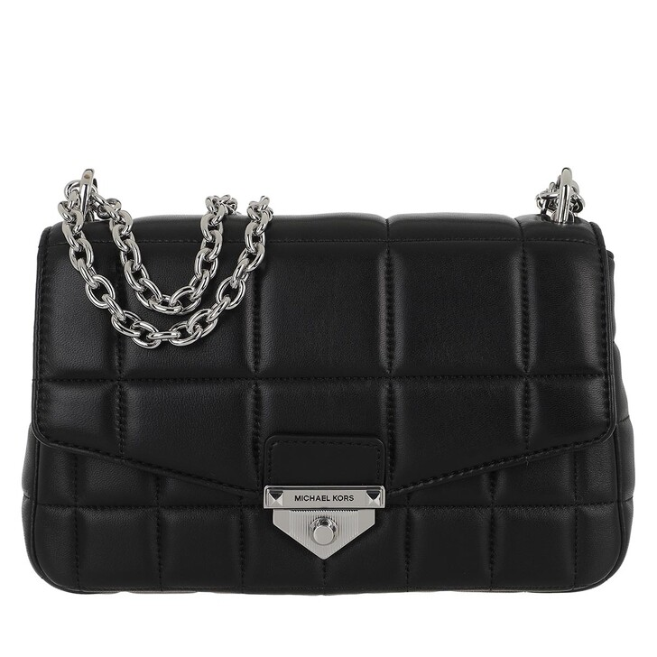 Handtasche, MICHAEL Michael Kors, Soho Large Chain Shoulder Handbag  Leather Black
