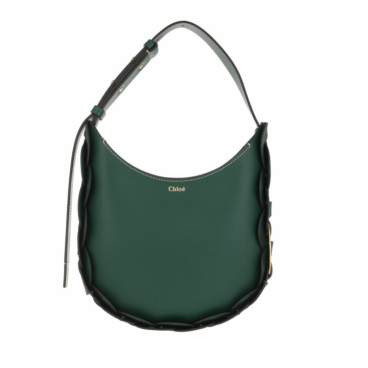 Handtasche, Chloé, Darryl Small Hobo Bag Leather Rain Forest