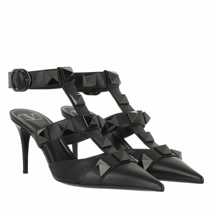 shoes, Valentino Garavani, Rockstud Ankle Strap Slingback Black