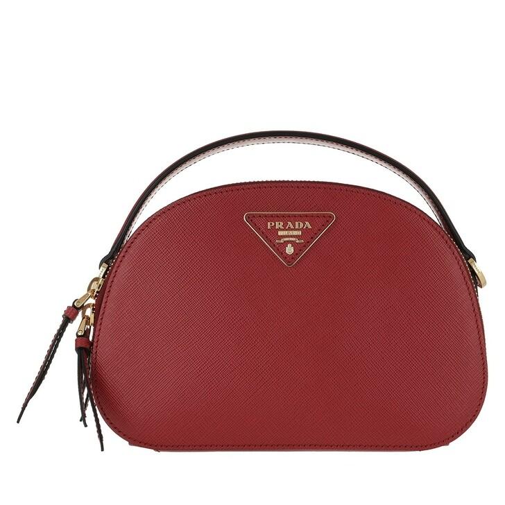 Handtasche, Prada, Odette Shoulder Bag Leather Fiery Red