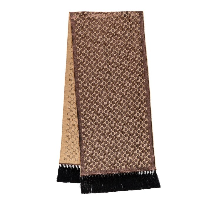 Schal, Gucci, Heritage GG Lame Shawl Brown