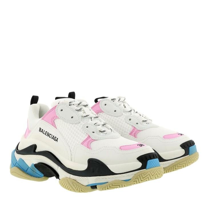 Schuh, Balenciaga, Triple S Sneakers Pink/White/Blue