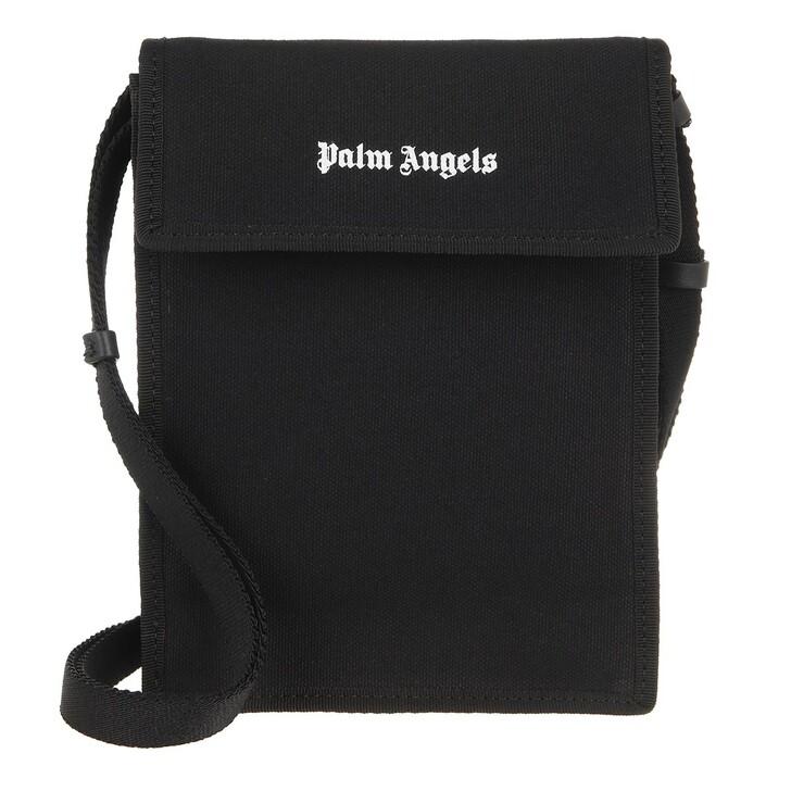 smart_cases, Palm Angels, Classic Logo Phonebag Black White Black White