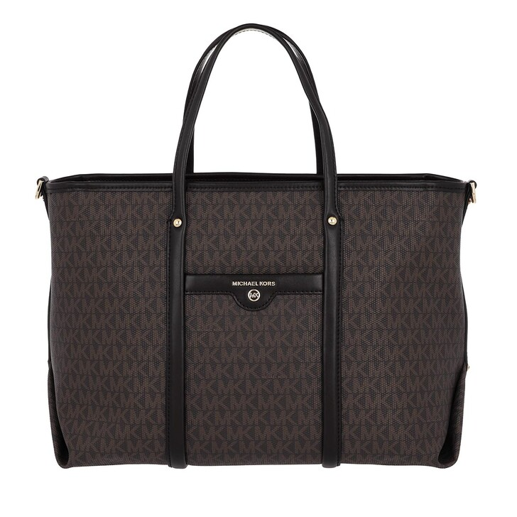 Handtasche, MICHAEL Michael Kors, Beck Medium Convertible Tote Bag Brown/Black
