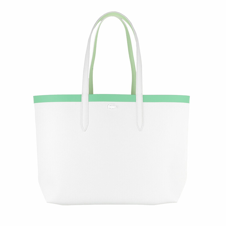 Handtasche, Lacoste, Anna Seasonal Shopping Bag Pousse Blanc Liamone