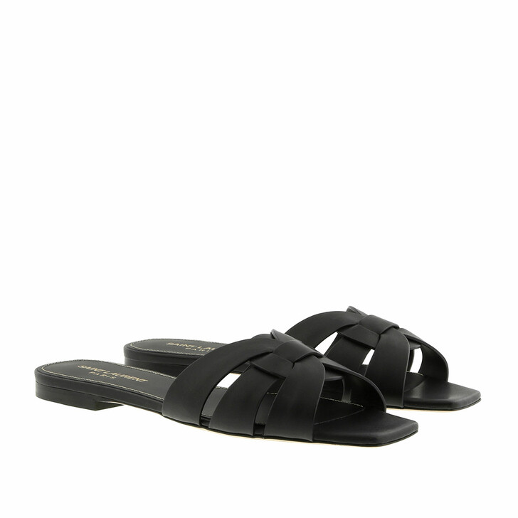 Schuh, Saint Laurent, Nu Pieds Slide Sandals Black
