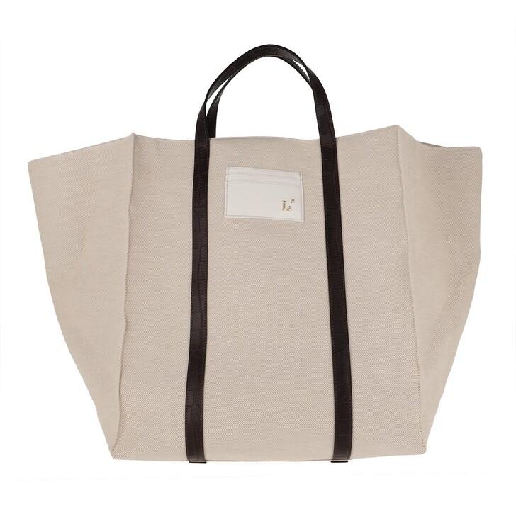 Handtasche, L´Autre Chose, Canvas Shopping Bag Beige/Dust Grey