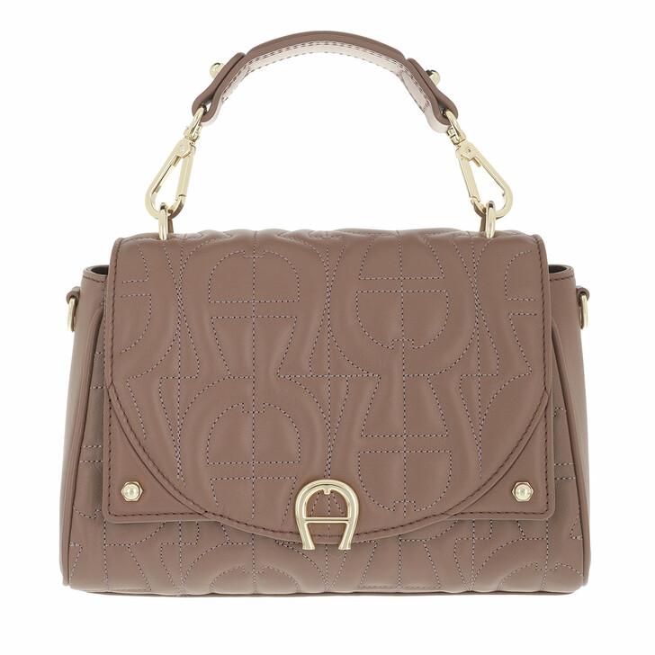 bags, AIGNER, Diadora Handbag Mushroom Brown