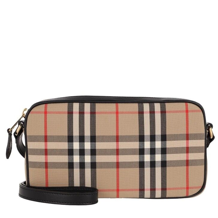 Handtasche, Burberry, Small Vintage Check Camera Bag Black