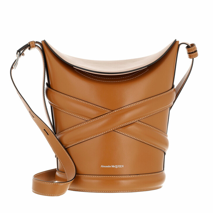 bags, Alexander McQueen, Handbag Leather Tan