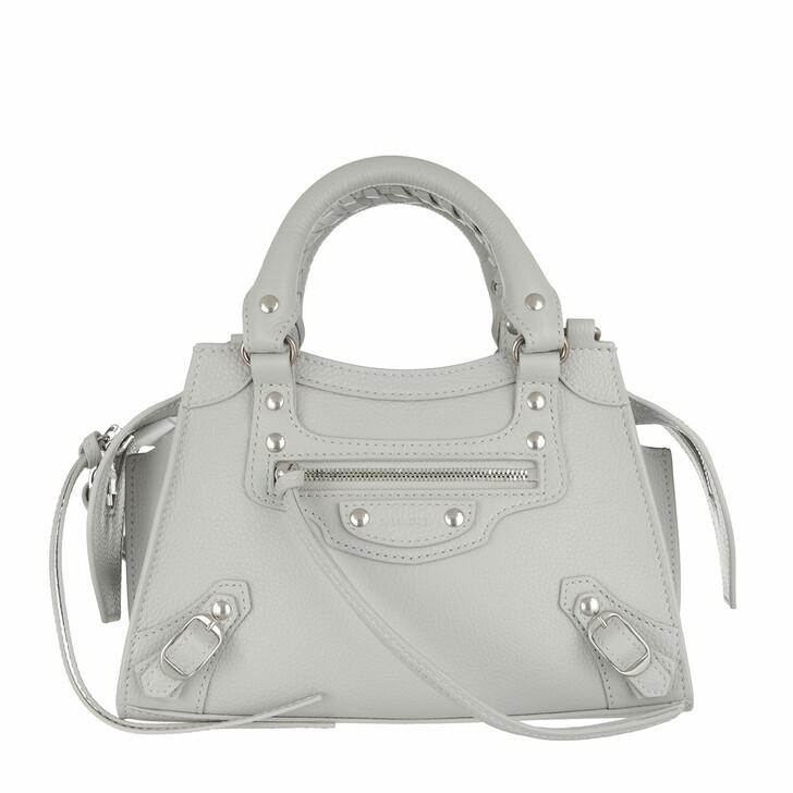 Handtasche, Balenciaga, Neo Classic Mini Top Handle Bag Grained Calfskin Light Grey