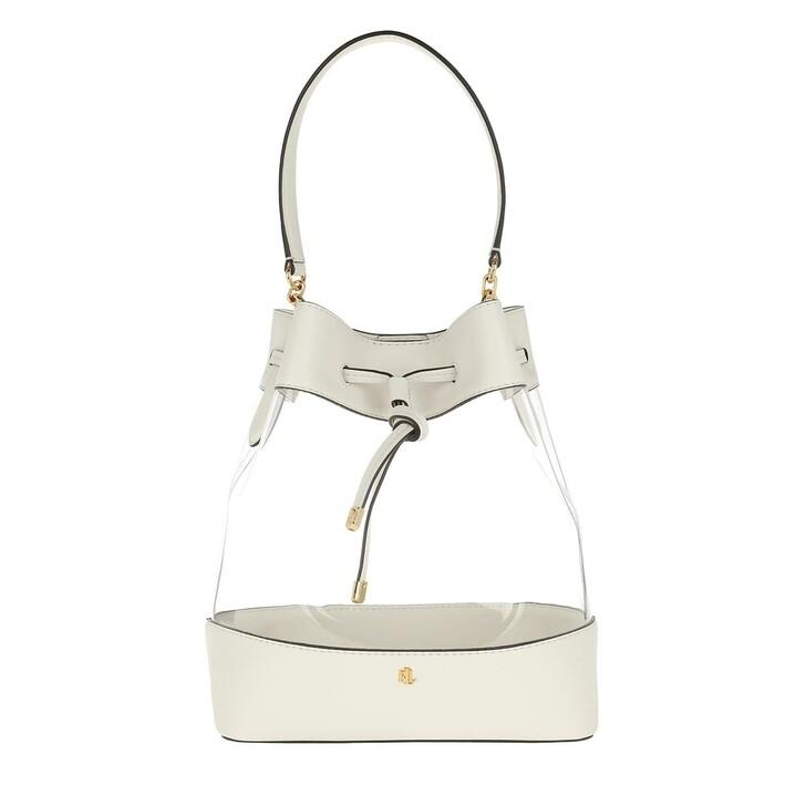 Handtasche, Lauren Ralph Lauren, Debby Medium Drawstring Bag Clear/Vanilla