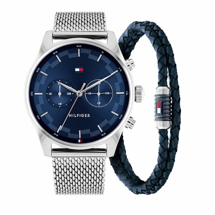 Uhr, Tommy Hilfiger, Gents gift set 2 Sawyer Watch Casual Bracelet Silver