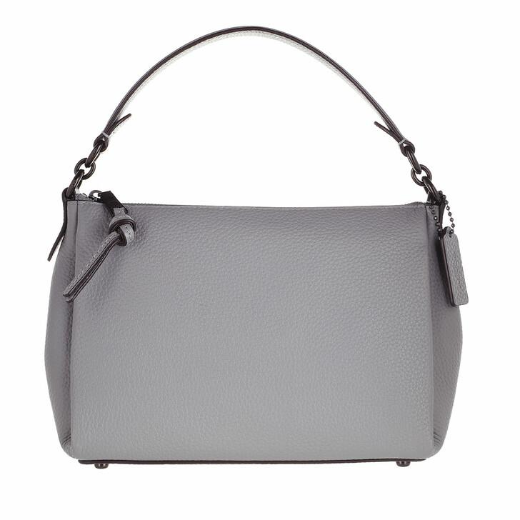 Handtasche, Coach, Soft Pebble Leather Shay Shoulder Bag Granite