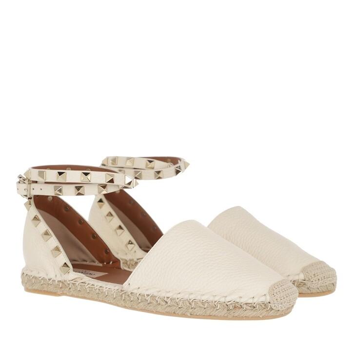 shoes, Valentino Garavani, Rockstud Espandrilles Light Ivory