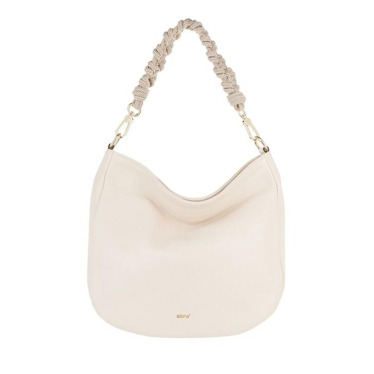 Handtasche, Abro, Hobo Bag Lota Small  Ivory