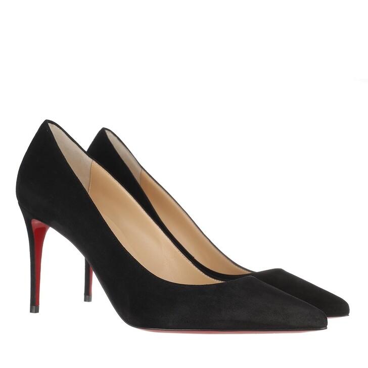 shoes, Christian Louboutin, Kate Pump Veau Velours Black