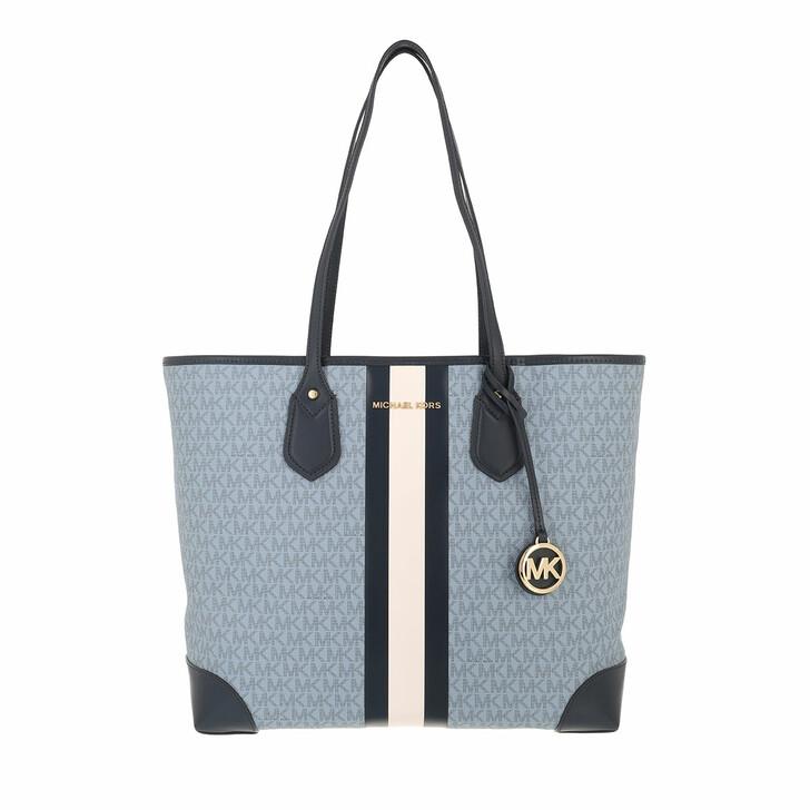 bags, MICHAEL Michael Kors, Eva LG Tote Bag Pale Blue Navy
