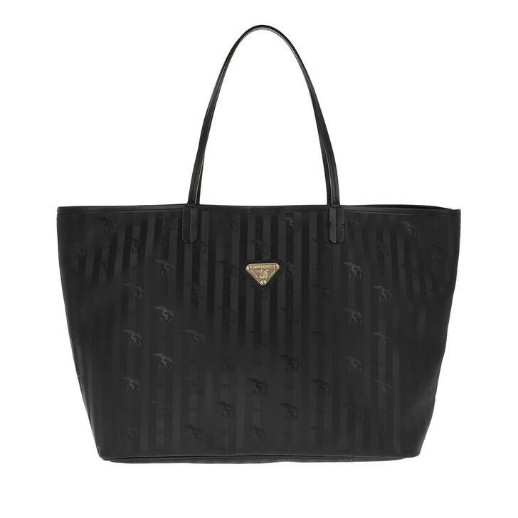 Handtasche, Maison Mollerus, Zuerich Shopping Bag Black/Gold