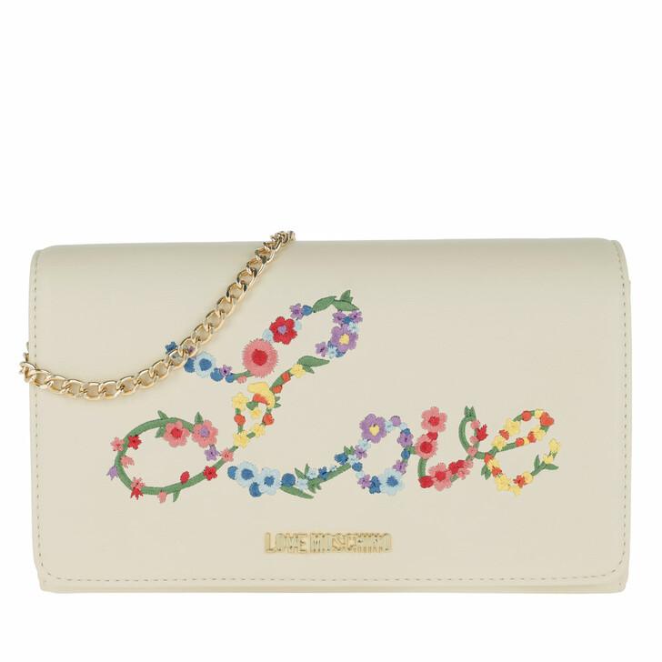 Handtasche, Love Moschino, Nappa Pu Chain Crossbody Bag Bianco