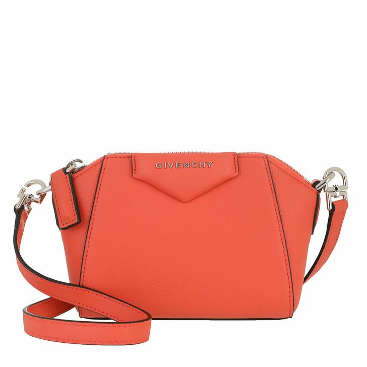 Handtasche, Givenchy, Nano Antigona Crossbody Bag Goatskin Coral