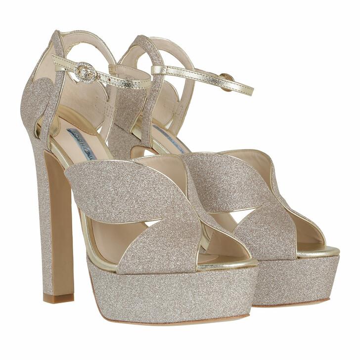 Schuh, Sophia Webster, Rita Platform Sandal Champagne Glitter