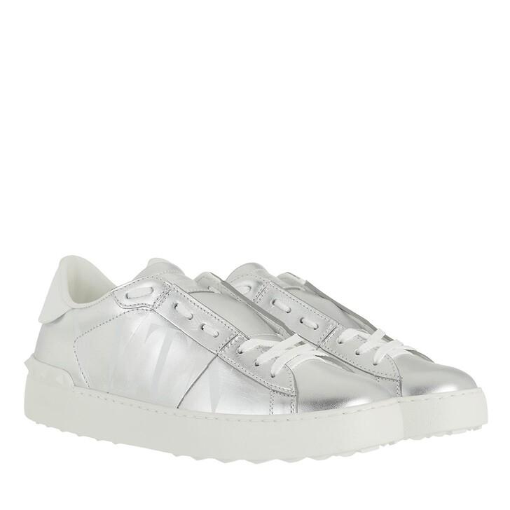 Schuh, Valentino Garavani, Open Sneakers Argento White