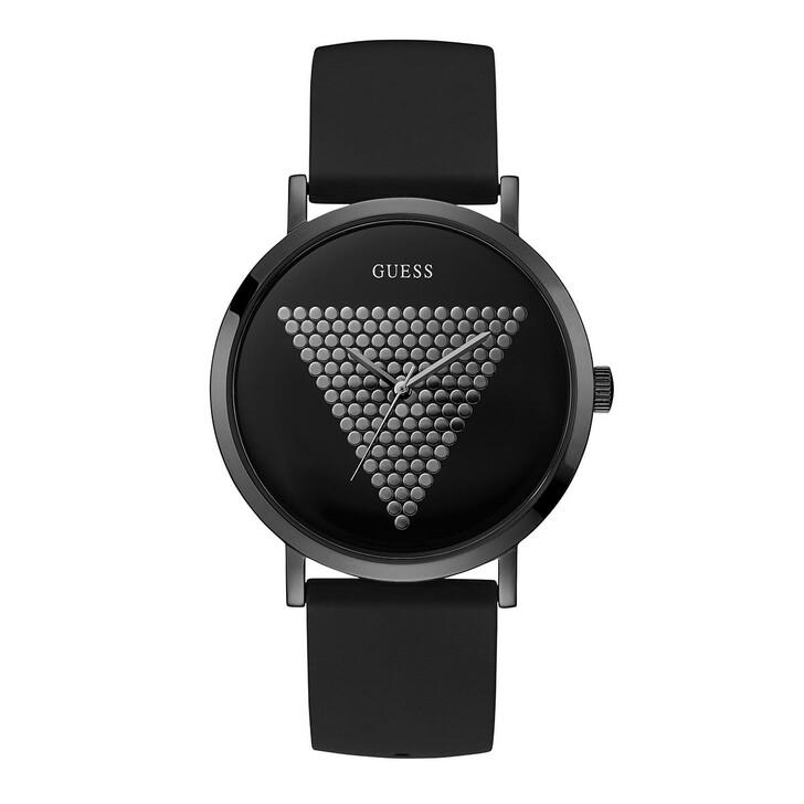 watches, Guess, Men Quartz Watch Imprint Black