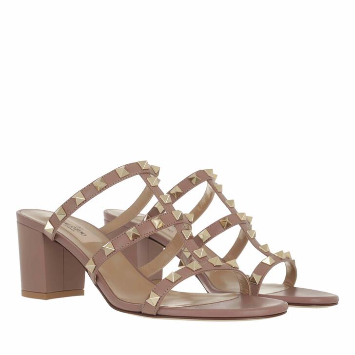 Schuh, Valentino Garavani, Rockstud Sandals Dark Nude