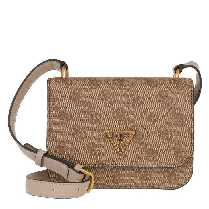 Handtasche, Guess, Noelle Mini Crossbody Flap Latte