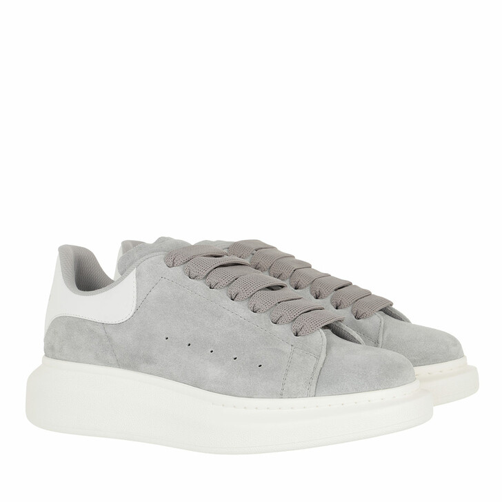 shoes, Alexander McQueen, Sneakers Leather Grey White