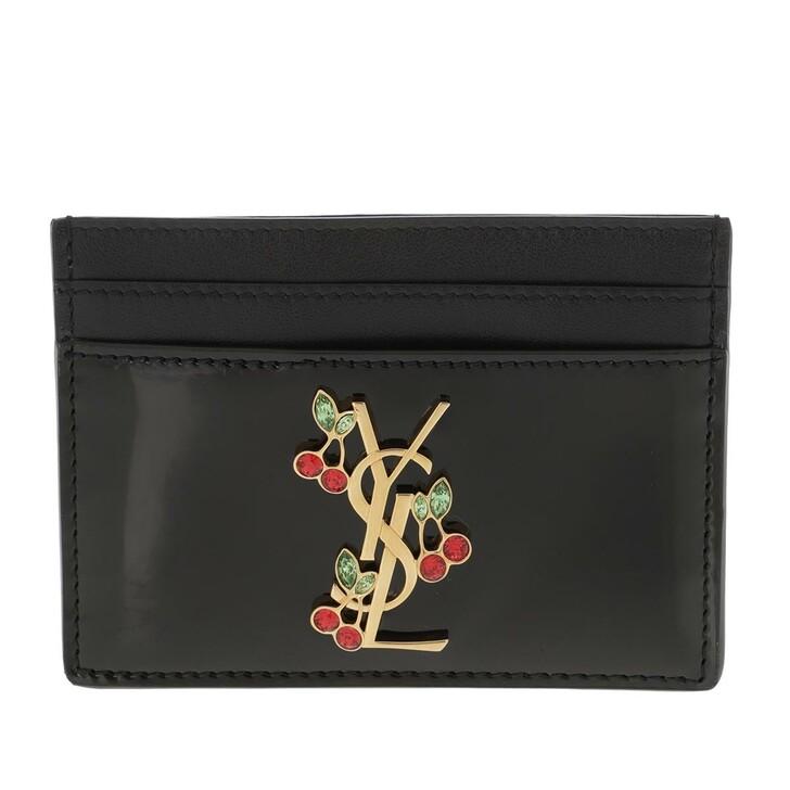 wallets, Saint Laurent, Card Holder Leather Nero