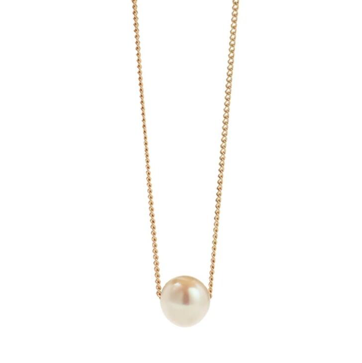 Kette, Meadowlark, Selene Pearl Necklace Yellow Gold