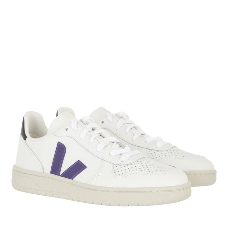 shoes, Veja, V-10 Leather  Extra-White Purple Black