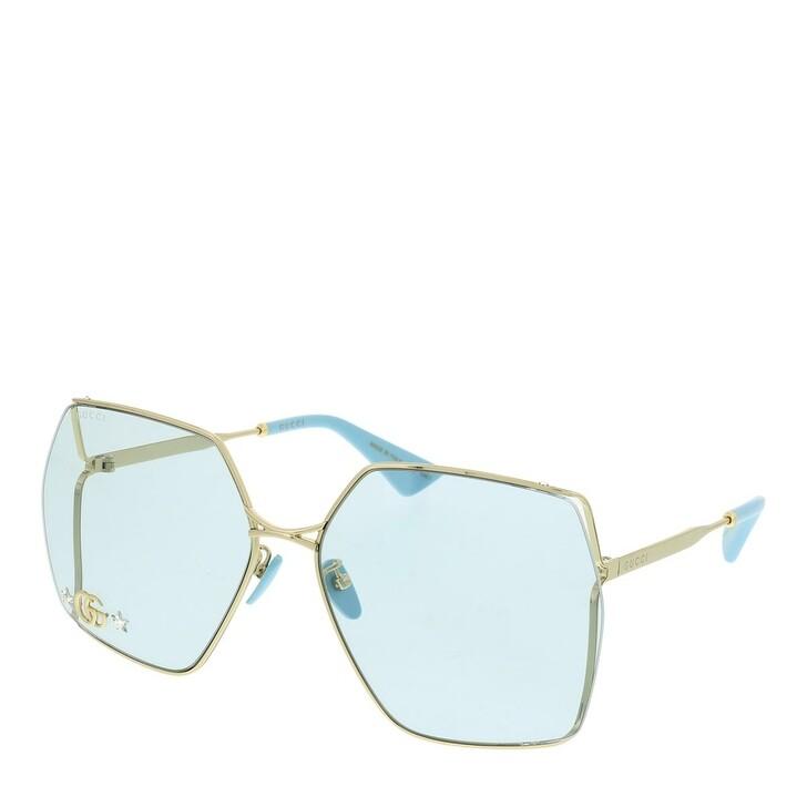 sunglasses, Gucci, GG0817S-004 65 Sunglass WOMAN METAL Gold