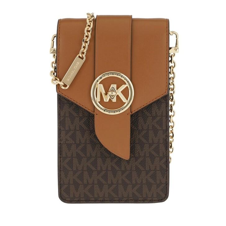 Smartphone/Tablet case (Bag), MICHAEL Michael Kors, Small Ns Phone  Brn/Acorn