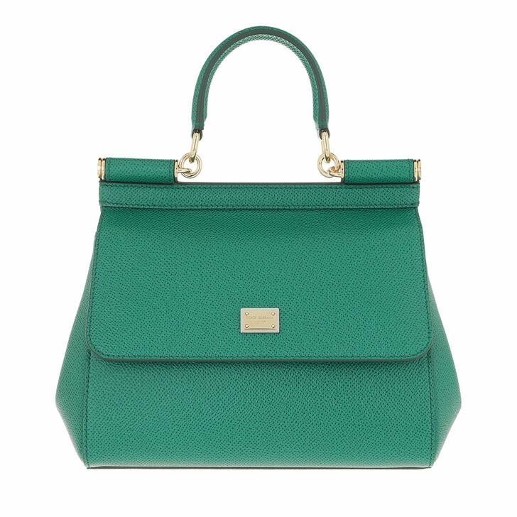 bags, Dolce&Gabbana, Sicily Mini Bag Emerald Green
