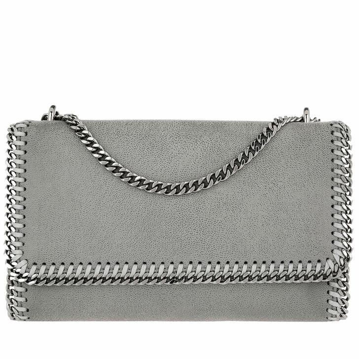 Handtasche, Stella McCartney, Falabella Shoulder Bag Shaggy Deer Light Grey